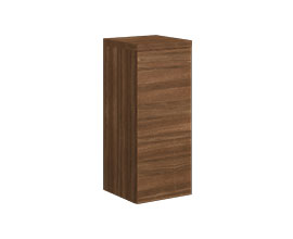 Single door cabinet with shelves