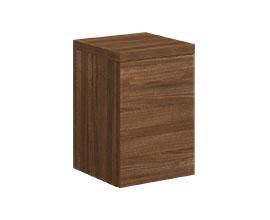 Single door cabinet with shelf