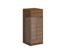 Drawer cabinet with laundry drawer