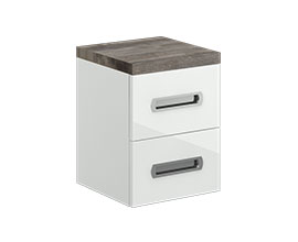 Double drawer storage cabinet