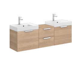 Noclaf SLIM 50x35 cm, double vanity unit 4 drawers