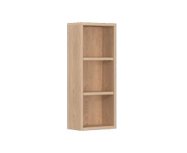 Open storage unit for mirror cabinet