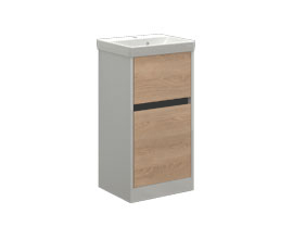 Storage cabinet with 2 drawers