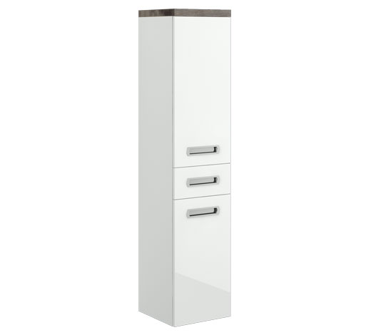 Storage cabinet with doors and drawer